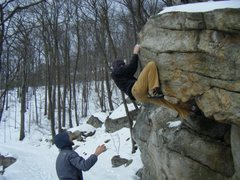 Rock Climbing Photo: Gill Egg on a 20 degree day