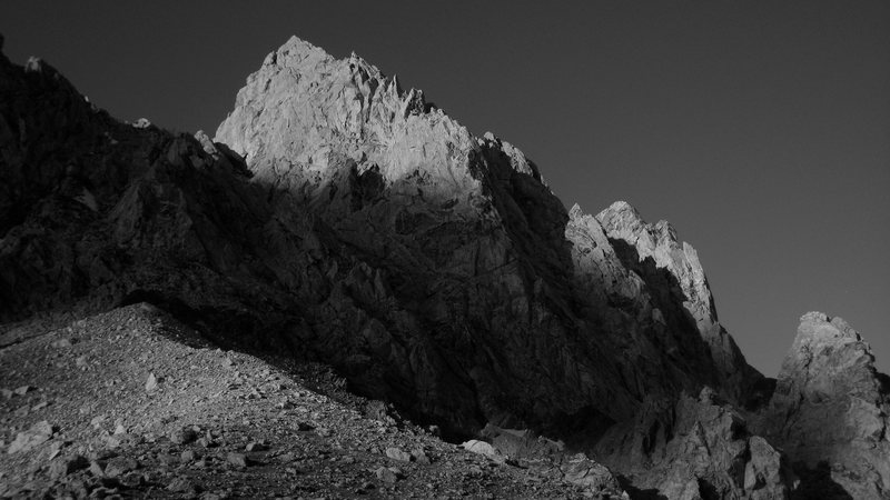 The Grand in B&W from the Lower Saddle