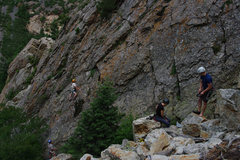 Rock Climbing Photo: Louise Sargent on Whipper Snapper. Shannon Kelly a...