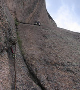 Rock Climbing Photo: Pitch 3 is the best pitch on Trail of Tears, even ...
