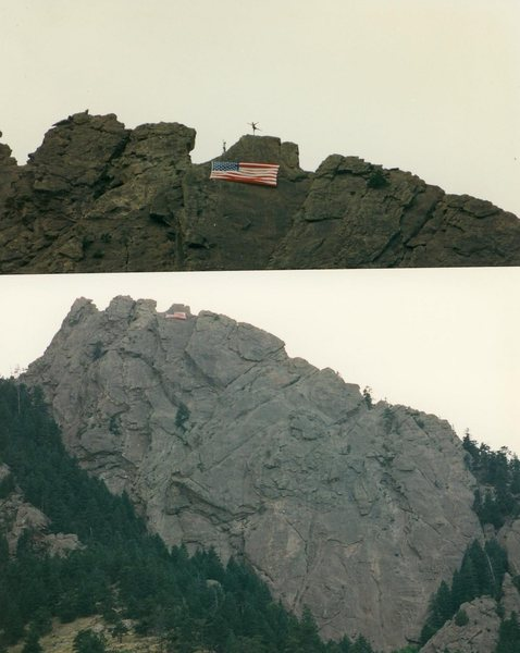 Rock Climbing Photo: Flag on the First Flatiron