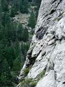 Rock Climbing Photo: A lovely climb; this pic is doing somewhat half-ju...