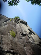 Rock Climbing Photo: looking up into the awesome bottomless corner of n...