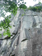 Rock Climbing Photo: the stemming crux off shirley