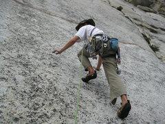 Rock Climbing Photo: Route: Serious but not Desperate- 10A (r) Descript...