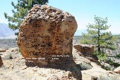 Rock Climbing Photo: Holiday Boulder - East Face Topo