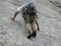 Rock Climbing Photo: Runout but not Desperate.