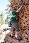 Rock Climbing Photo: Michael on Supercalifragilisticexpialidocious, V E...