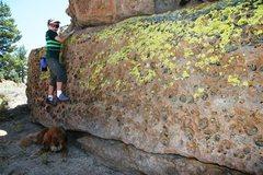 Rock Climbing Photo: Michael on the QMII Traverse, V Easy