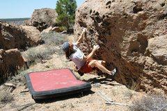 Rock Climbing Photo: Pulling on to Holly Molly, V1