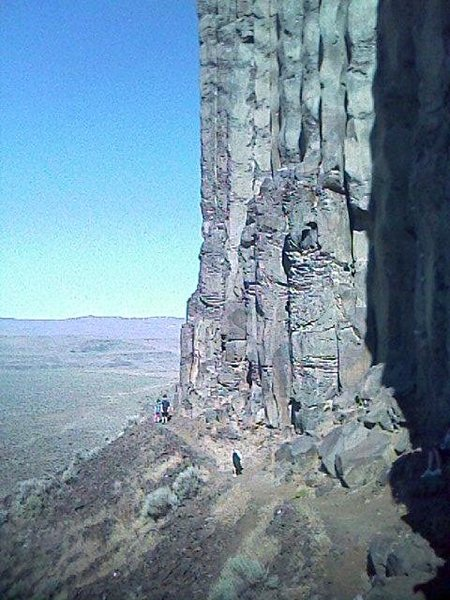 Rock Climbing Photo: Sunshine Wall, as you first see it when coming out...