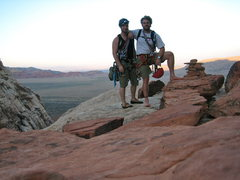 Rock Climbing Photo: At the summit of Dark Shadows