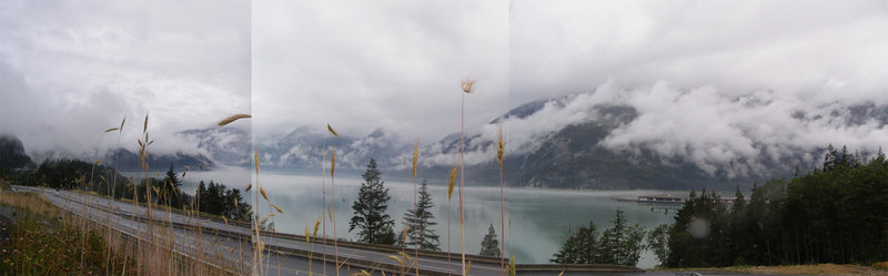 View of Howe Sound, rain approaching