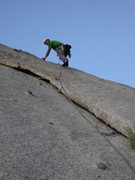 Rock Climbing Photo: Boissal using modern gear to protect the Hook but ...