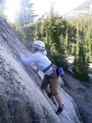 Rock Climbing Photo: Alex starts the crux moves On The Count of Three, ...