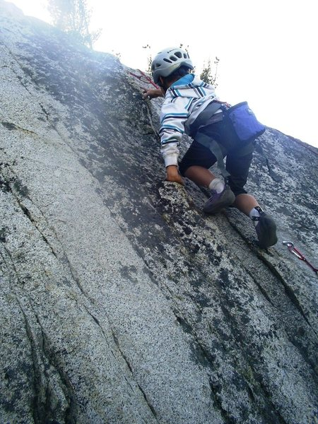 Rock Climbing Photo: Michael completes the crux On the Count of Three, ...