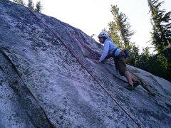 Rock Climbing Photo: Alex on Fun-gi, 5.4