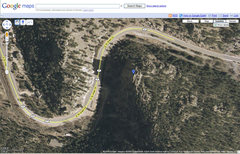 Google Map showing The Watchtower in relationship to the Boulder County Assessor map.