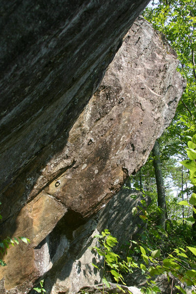 Rock Climbing Photo: there's the line... 3 bolts and the anchors...