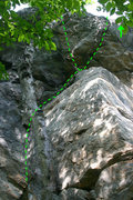 Rock Climbing Photo: So here is the route... my understanding is that t...
