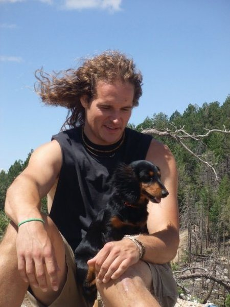 My hairy wiener and I atop Lemmon