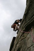 Rock Climbing Photo: Moving onto the front of the buttress.   Notice th...