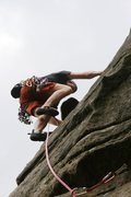 Rock Climbing Photo: Moving on up the buttress.