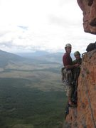 Rock Climbing Photo: Meghan and Eric at the start of P4, on the Flying ...