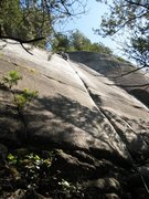 Rock Climbing Photo: Joe in one of the sweetest 5.7 cracks around...