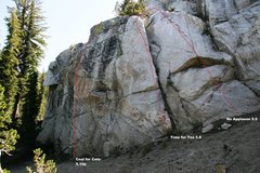 Rock Climbing Photo: Right end Topo