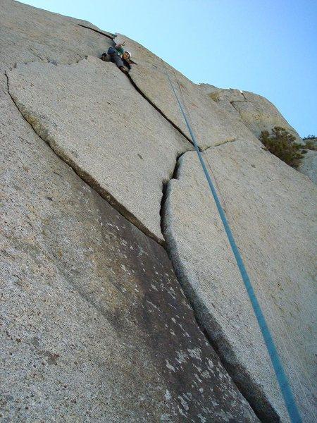Rock Climbing Photo: Todd Green enjoying the flakes
