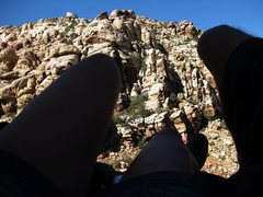 Rock Climbing Photo: A nap in the shade on a ledge was our reward after...