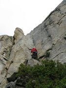 Rock Climbing Photo: Pitch 1 of Blackfin