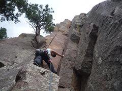 Rock Climbing Photo: CM starting Emerald City.