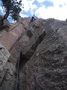 Rock Climbing Photo: CM finishing Emerald City.
