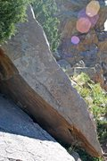 Rock Climbing Photo: Cocaine Corner is the obvious south arete to Spike...
