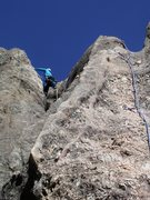 Rock Climbing Photo: Nice new replacement bolts on the route
