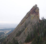 Rock Climbing Photo: Direct West Face is the right skyline. (Photo by J...