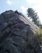 Rock Climbing Photo: Approaching the optional belay. Vrainavore 10a is ...