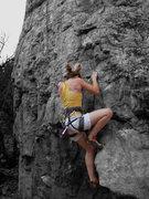 Rock Climbing Photo: Sarah rocks out at Shelf