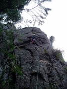 Rock Climbing Photo: Beginning the crack proper is difficult, and the g...