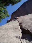 Rock Climbing Photo: The thin hands to fingers crack is gnarly with sha...