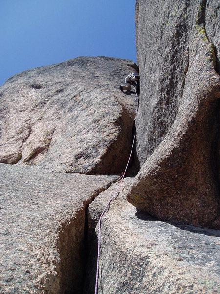 "Rock Climbing Photo: Still hard! Getting through the ""A""-shap..."