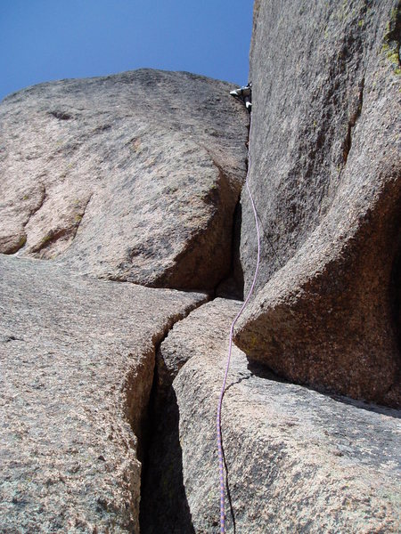 Rock Climbing Photo: At the top of the last pitch you can turn left wit...