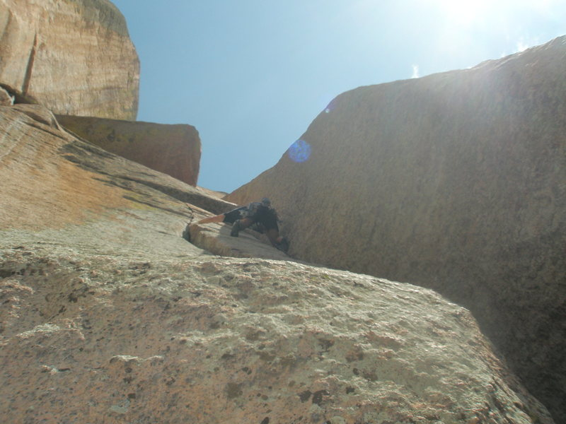 2nd pitch of the great Center Route. Picture taken by Amy Haessly.