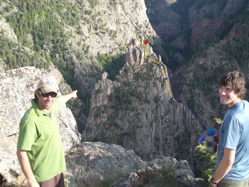 Rock Climbing Photo: beta photo for curecanti needle