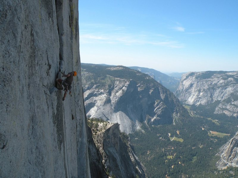 One of the pitches way up there<br> photo by Scott Bennett