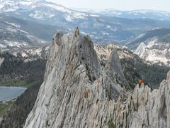 Rock Climbing Photo: climber on Matthes Crest