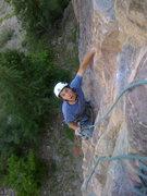 Rock Climbing Photo: Josh Gross following P1; 5.10c, 100 ft. This pitch...
