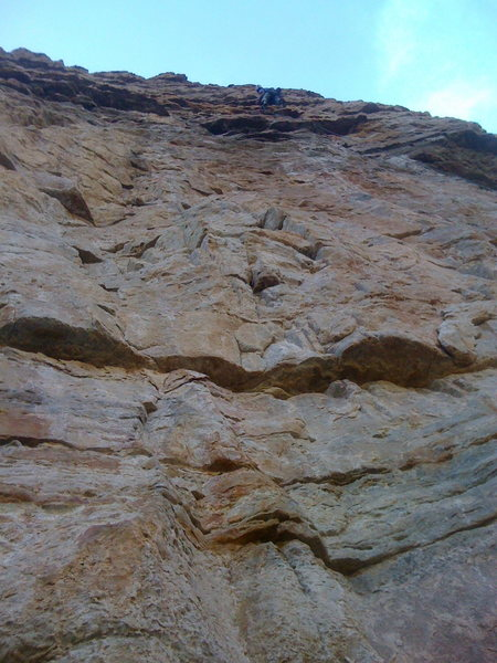 Rock Climbing Photo: Josh Gross, P3. He's a 120' out of 160' on lead. T...
